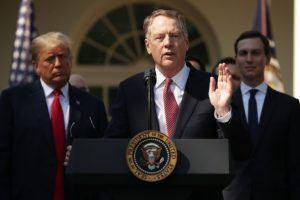 U.S. Trade Executive Lighthizer to Talk with European Counterpart on Trade Deal